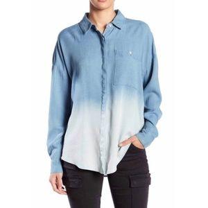 Splendid Blue Ombré Button Down Shirt